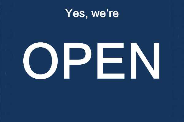 We're open - pod